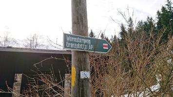 Foto Wegweiser - Wormsbergweg & Bennohöhle