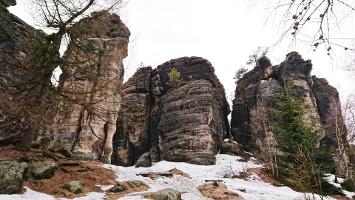 Foto Felsen in den Tyssaer Wänden