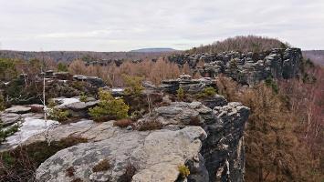 Foto Aussicht über die Tyssaer Wände Richtung Schneeberg