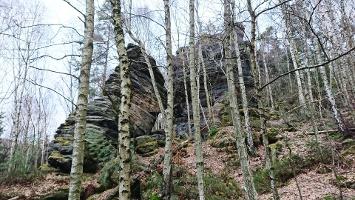 Foto Felsen am Wegesrand