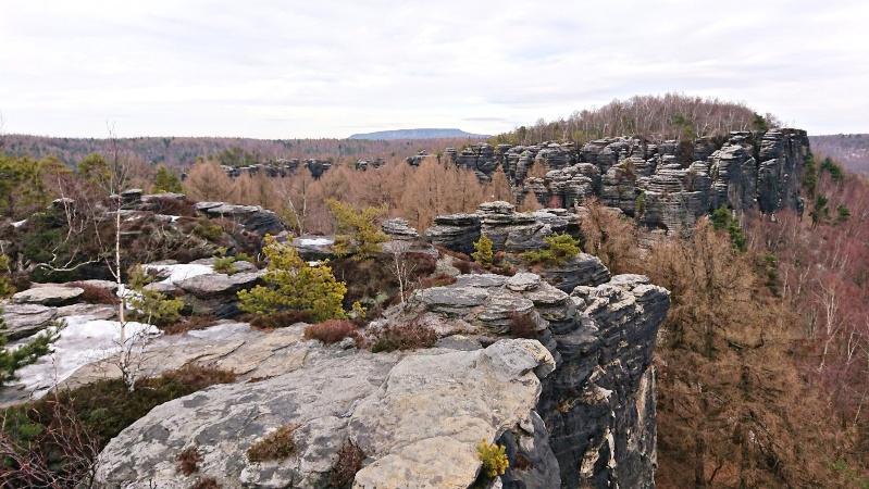 Foto Blick über Tyssaer Wände