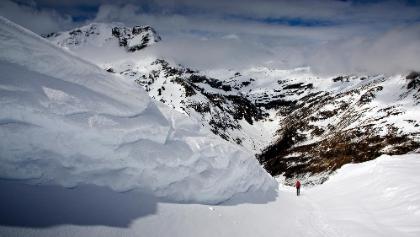 im Anstieg noch ein bissl Schnee