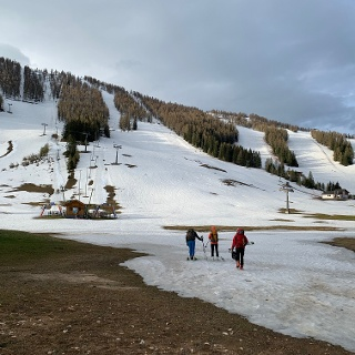 Schneesituation auf der Höss Mittelstation