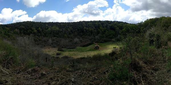 The volcanic crater at Santa Margarida