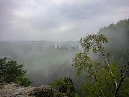 Foto Mystische Stimmung in den Schrammsteinen
