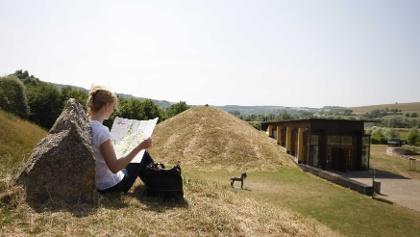 Blick über den europäischen Kulturpark Bliesbruck-Reinheim