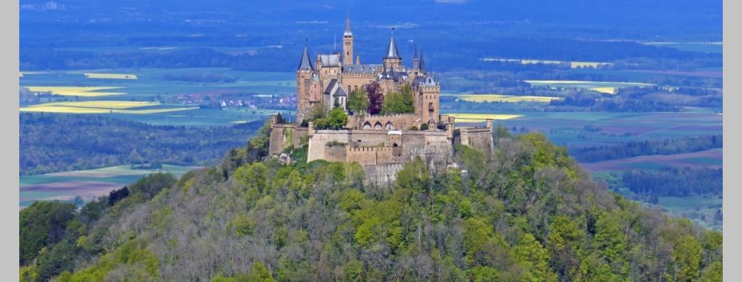 Blick zur Burg Hohenzollern