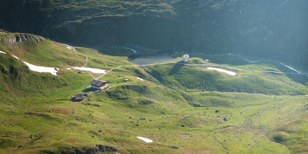 Die Sesvennahütte und die Alte Pforzheimer Hütte