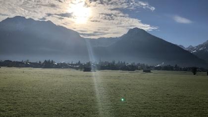 Blick Richtung Osten - Nebelhorn + Schattenberg