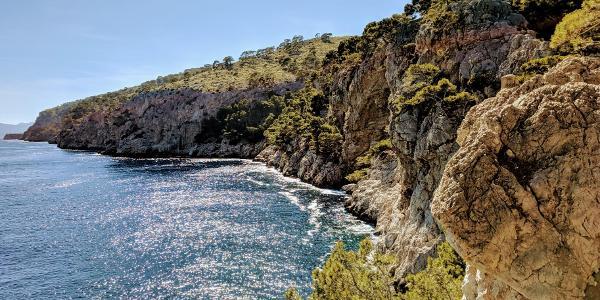 Der Aussichtspunkt an der Cala Murta