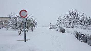 Foto Start auf den (verschneiten) Mühlsteig