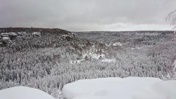 Foto Aussicht von der Grenzplatte