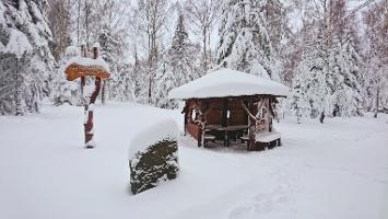 Foto Unterstand auf dem Weg zum Schneeberg