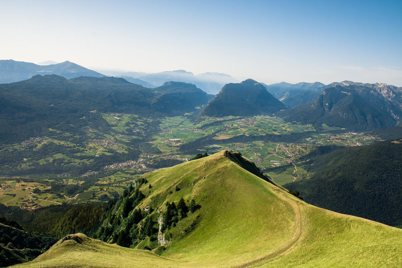 Blick ins Tal Terme di Comano
