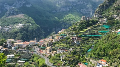 View to Fontone from Ravello Descent