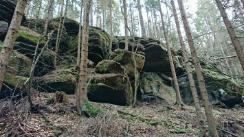 Foto Felsformationen am Wegesrand
