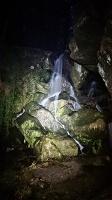 Foto Lichtenhainer Wasserfall im Dunkeln