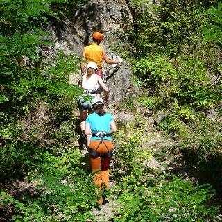 Klettersteig-Einstieg