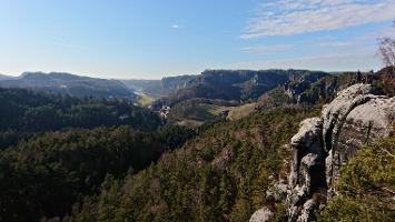 Foto Aussicht vom Gamrig auf Rathen