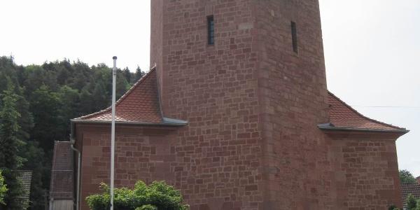 Pälzer Keschdeweg Etappe 1 Dorfkirche Lug