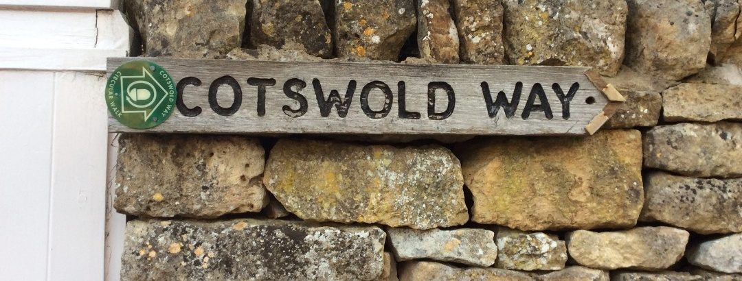 Cotswold Way marker.
