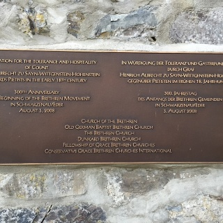 Gedenktafel Taufstelle Schwarzenau