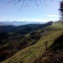 Blick auf die Berner Alpen kurz vor der Moosegg