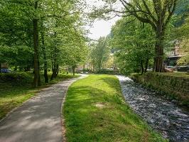 Foto Der Flößersteig am Kurpark in Bad Schandau
