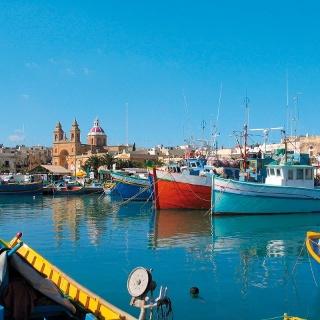 Hafenpanorama in Marsaxlokk