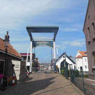 Zugbrücke in der Nähe der Stadt Gouda