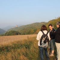 Burg Lichtenberg mit Wanderern
