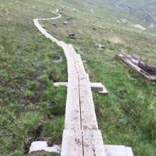 Holzbohlenweg Berggrat