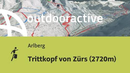Skitour am Arlberg: Trittkopf von Zürs (2720m)