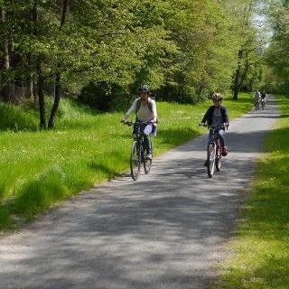Radweg auf der ehemaligen Kleinbahntrasse in Freital (Edgar-Rudolf-Weg)