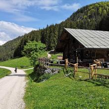 Auffahrt zur Kühroint-Hütte