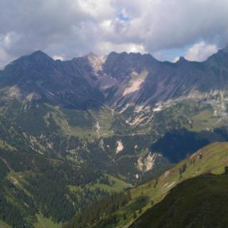 Ausblick Richtung Heinrich-Hütter-Hütte