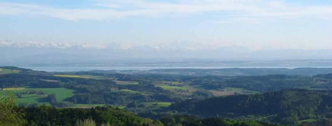 Panorama vom Höchsten auf den Bodensee