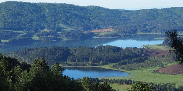 Blick von 1550m zum Lago Arvo