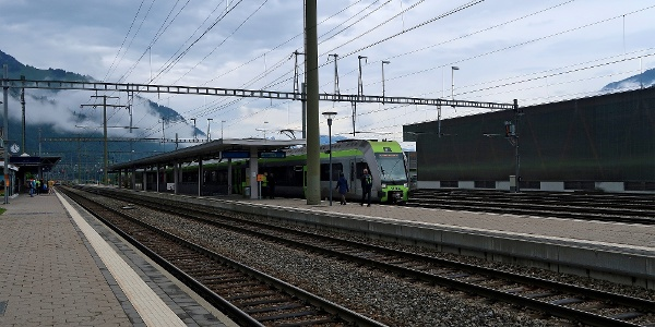 Bahnhof Frutigen.