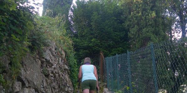 lange Stiege nach Portofino Vetta