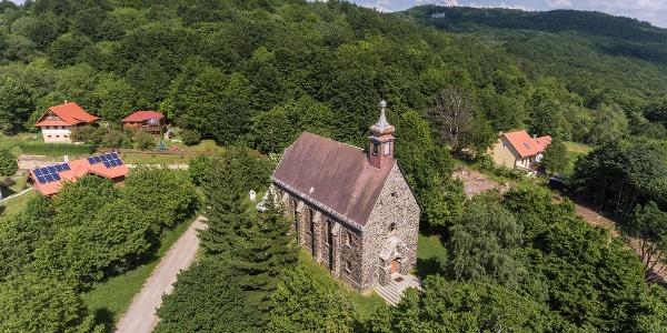 A Három falu temploma a levegőből