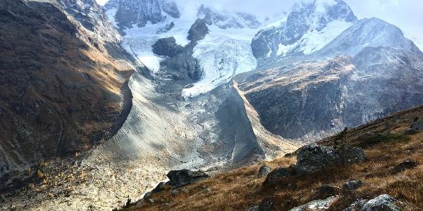 View of the glacier world