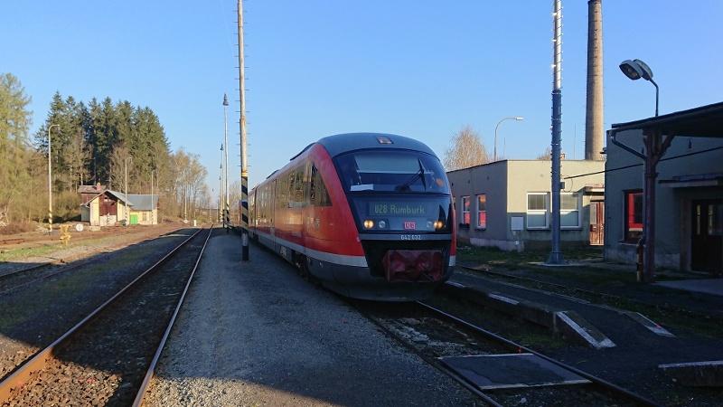 Foto Nationalparkbahn U28 von Bad Schandau in Richtung Rumburk