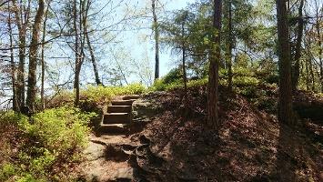 Foto Weg zur zum Aussichtspunkt Grünstellig