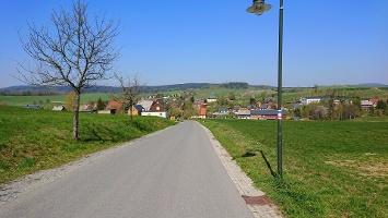 Foto Straße von Buchenparkhalle nach Hinterhermsdorf
