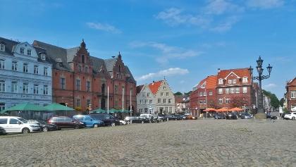 Der Marktplatz in Glückstadt