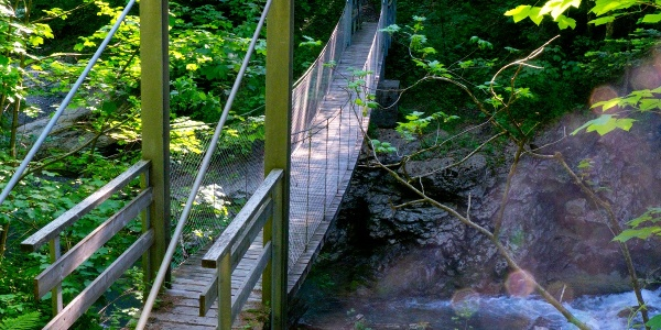 Hängebrücke über die Dornbirner Ach