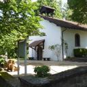 Die sehr schön gelegene Orannakapelle, Startpunkt unserer Wanderung.