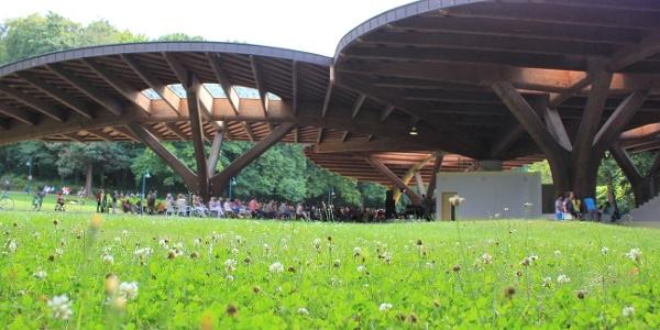 Freilichtbühne Schmetterling im Kurpark Bad Lausick