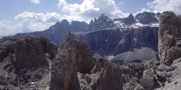 Crespëina Pass und Sella Gruppe
